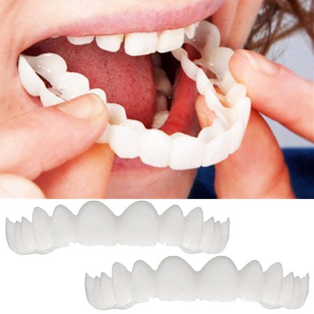 2Pcs Comfort Fit Flex Cosmetic Teeth Denture Teeth Top Cosmetic Ve (Fitting Beads For Cosmetic Teeth)