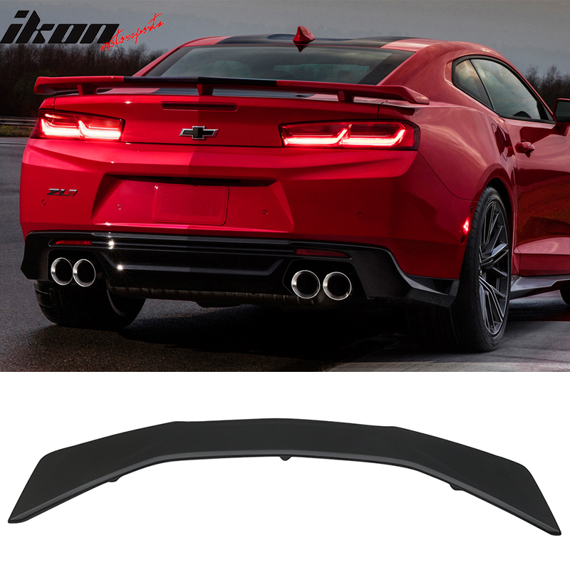 2017 2018 ZL1 Style Flush Mount Blade Trunk Boot Lip Spoiler Wing Add On Deck Lid By IKON MOTORSPORTS Trunk Spoiler Compatible With 2016-2020 Chevy Camaro