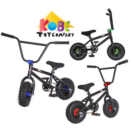 "KOBE Mini BMX Trick Bike - Off-Road to Skate Park, Freestyle, Trick, Stunt Bicycle 10"" Wheels for Adults and Kids - Blue - image 4 de 4"