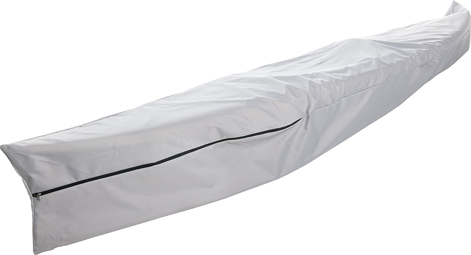 Click here to buy Goodsmann boat cover,Kayak cover,Canoe Cover,Silvery gray ,water resistant,weather... by Blue Sky.
