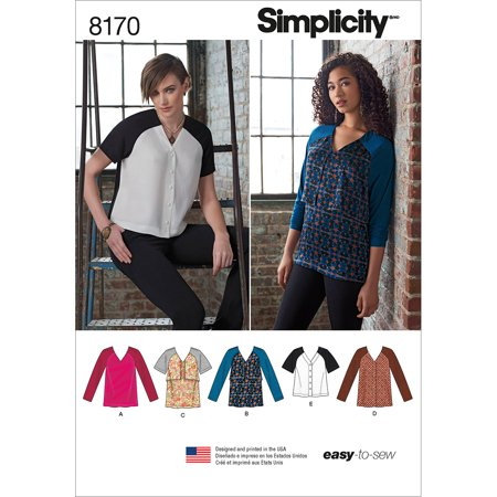 - Simplicity Misses Easy To Sew Tunics & Tops, 5 Piece