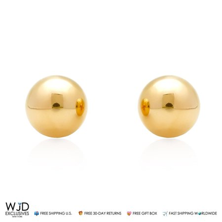 5384c2a1f WJD Exclusives - 14k Solid Yellow Gold High Polished 8mm Ball Stud ...