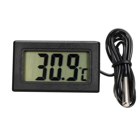 Digital LCD Thermometer Aquarium Thermometer with Probe for Vehicle Reptile Terrarium Fish Tank Refrigerator(Celsius)