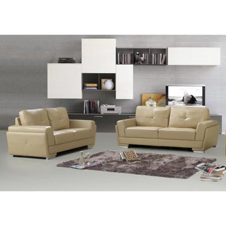 Us Pride Furniture Novel Bonded Leather 2 Pieces Sofa Set Walmart Com