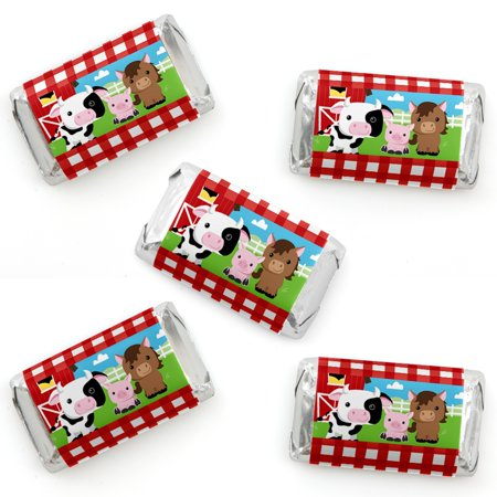 Farm Animal Party Favors (Farm Animals - Mini Candy Bar Wrappers Baby Shower or Birthday Party Favors - 40)