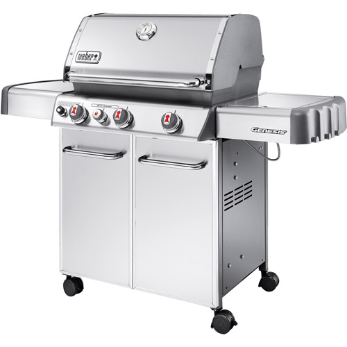 Weber Genesis S330 38,000 BTU 3 Burner LP Gas Grill with Side Burner, Stainless Steel