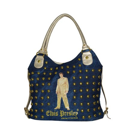 Women's Elvis Presley Signature Product Elvis Presley Shopping Bag ELV1326 Gold (Cline Products Bags)