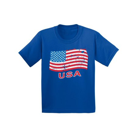 Awkward Styles Youth Distressed USA Flag Graphic Youth Kids T-shirt Tops USA Independence Day 4th Of July](Diy Kids)