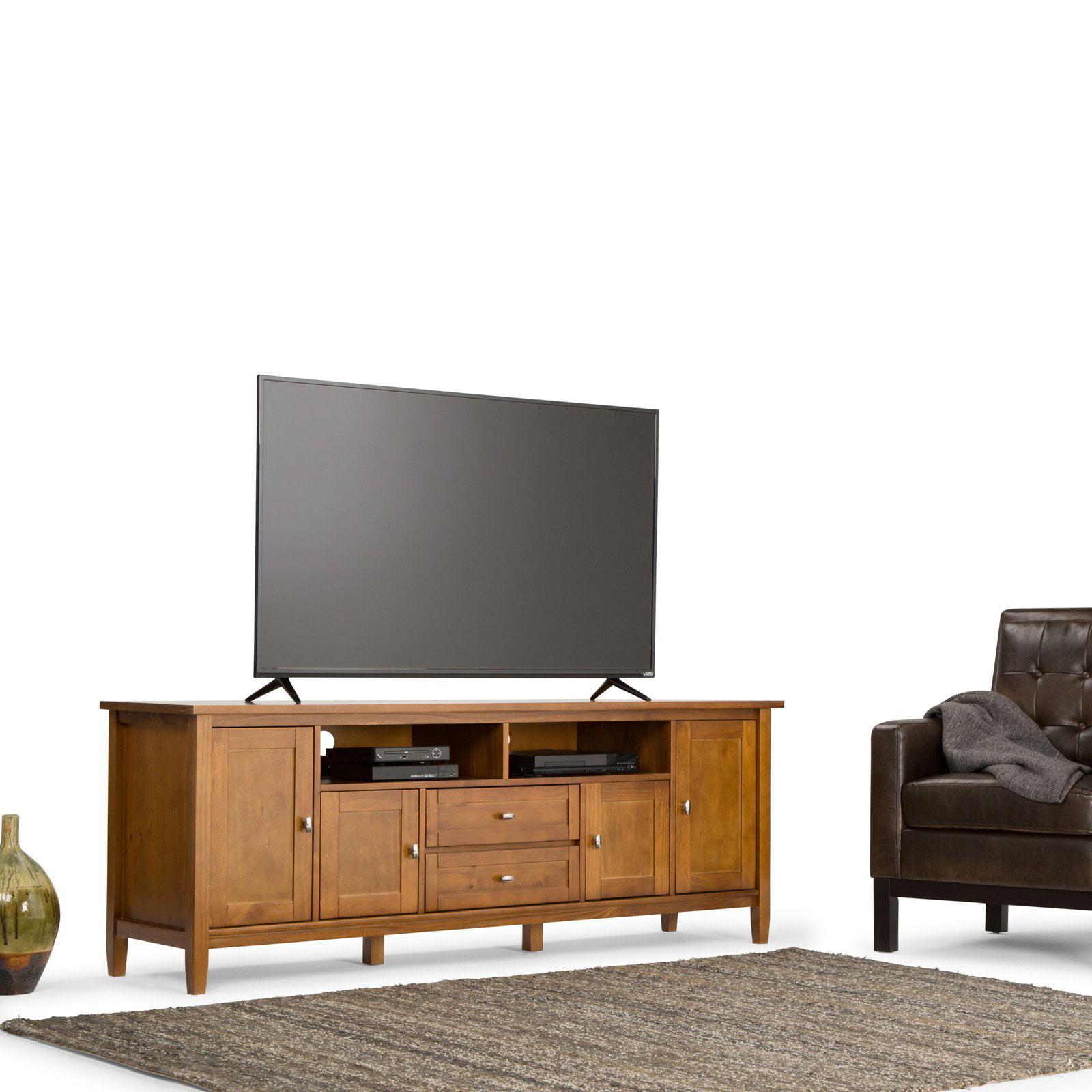 """Simpli Home Warm Shaker 72"""" TV Media Stand"""