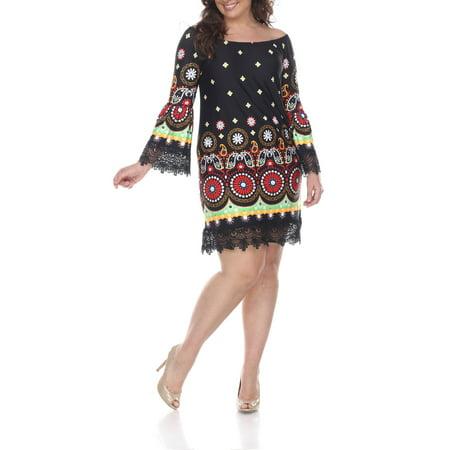 White Mark - Women\'s Plus Size Rakel Dress - Walmart.com