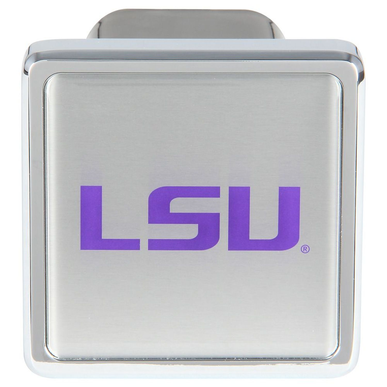 """Bully CR-931 Collegiate Hitch Cover with LSU College Logo for 2"""" Receivers by Pilot Automotive"""