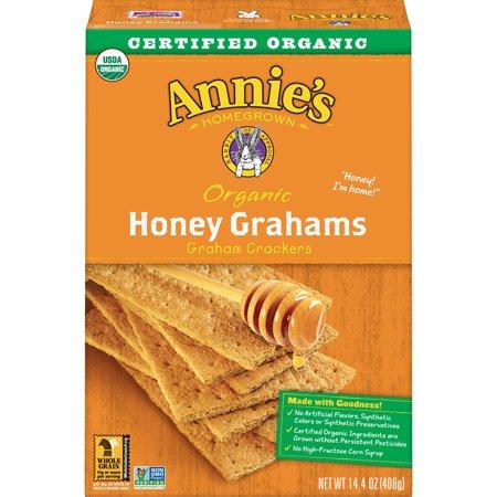 (2 Pack) Annie's Organic Honey Graham Cracker Bricks 14.4 oz