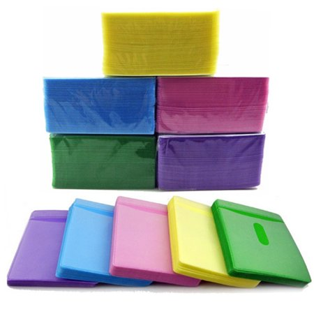 CD/DVD Storage Sleeves,100PCS CD DVD Double Sided Cover Storage Case PP Bag Sleeve Envelope Holder