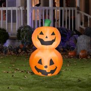 3.5' Tall Pumpkin Duo Stack Halloween Airblown Inflatable