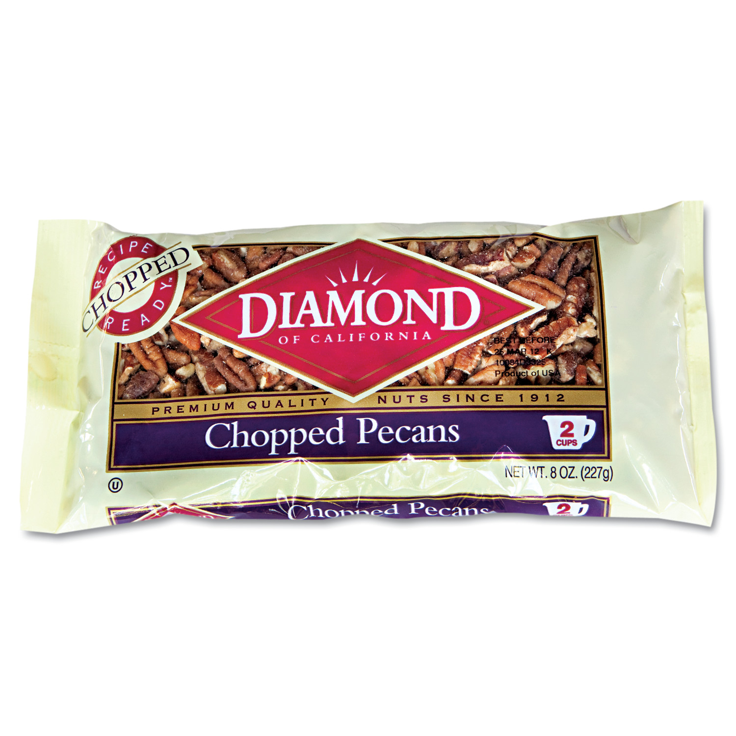 Diamond of California Chopped Pecans, 8oz Bag by Diamond Foods