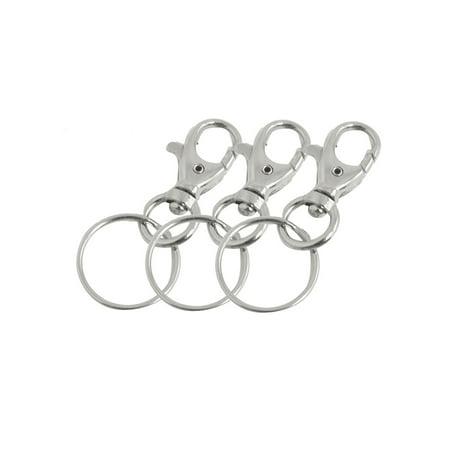 Silver Hand Holder (Silver Tone Lobster Hook Keys Holder Handbag Ornament Keychain Keyring 3 Pcs )