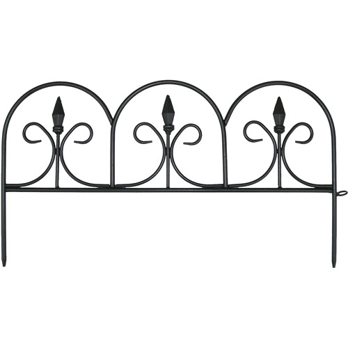 "Emsco Group 2083HD 18' Victorian Fencing (11"" X 20""), Wrought Iron Look - Poly Fence, 12 PCS"