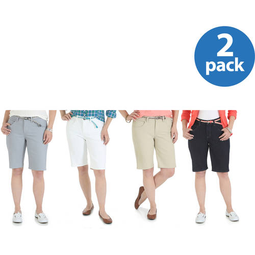 Riders By Lee Belted Bermuda Short 2pk Value Bundle