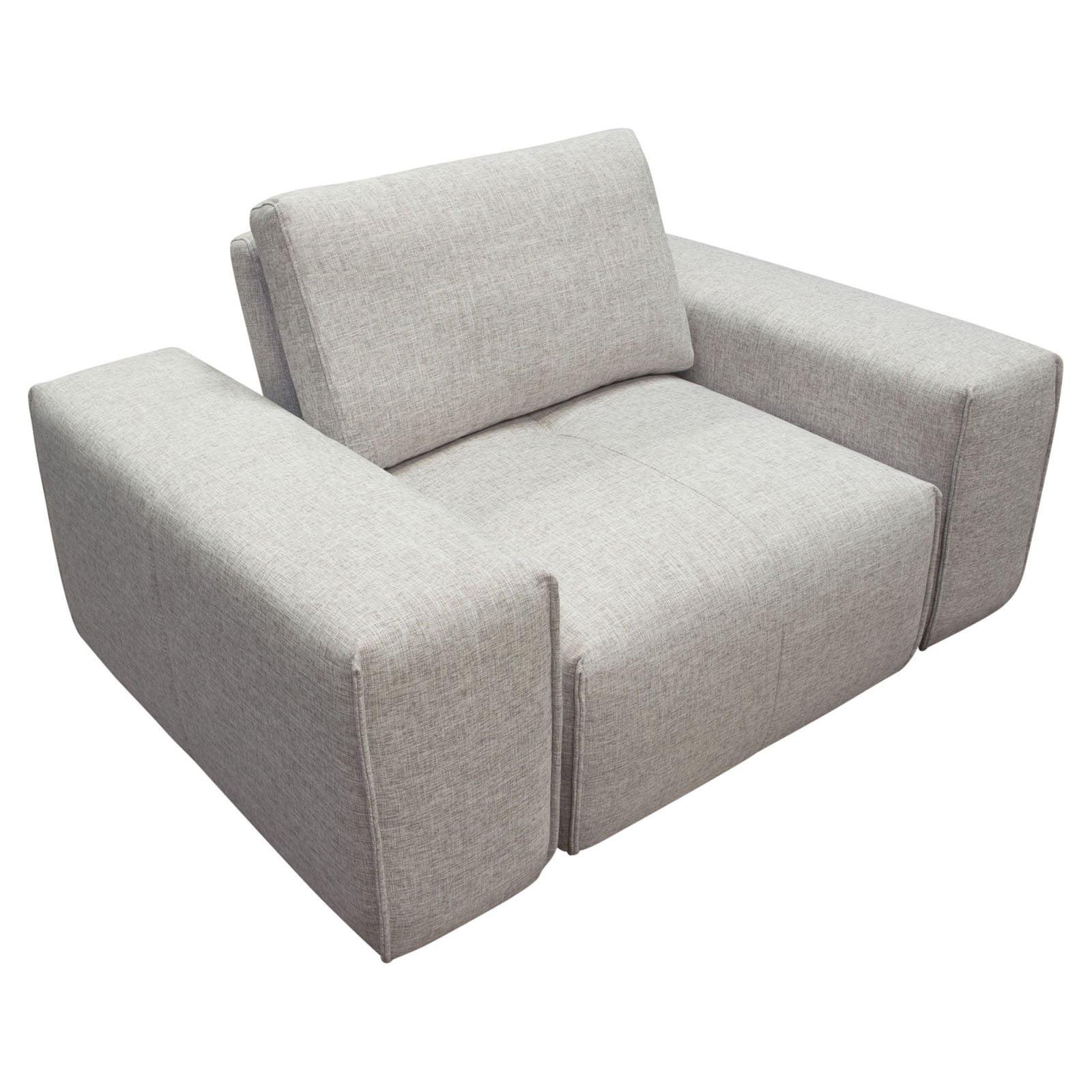 Diamond Sofa Jazz Modular Arm Chair with Adjustable Backrest - Light Brown