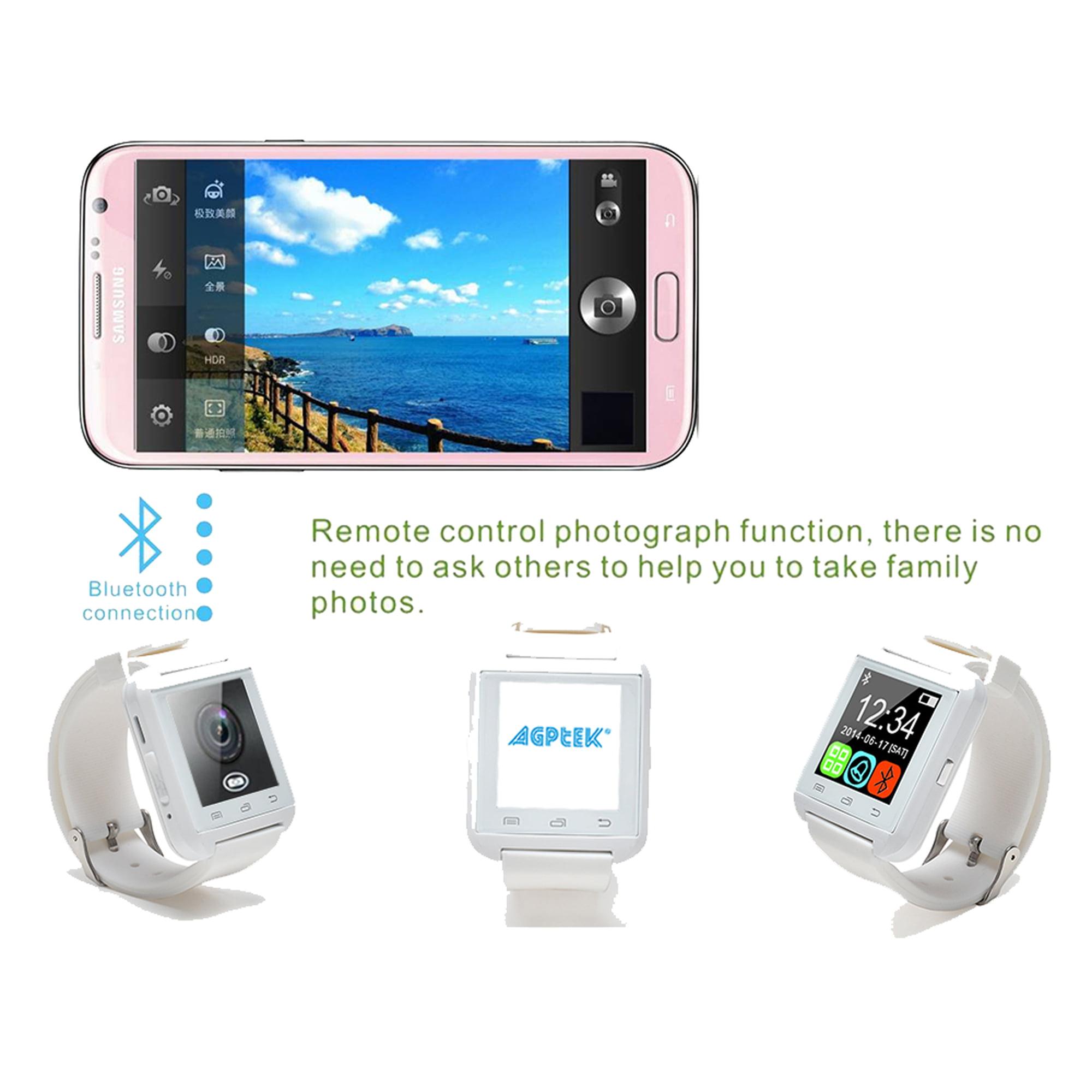 Phone Long Battery Life Android Phone agptek u8l bluetooth smartwatch wristwatch long battery life for iphone samsung android phones previous