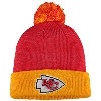 Women's Red/Yellow Kansas City Chiefs Lurex Two-Tone Cuffed Knit Hat - OSFA