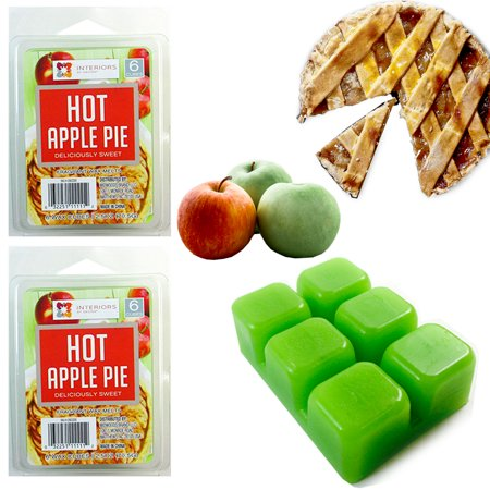 2 Pack Wax Melts HOT APPLE PIE Wax Cubes Candle Warmers Scented Fragrances (Block Green Apple Fragrance)