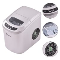 Goplus Red Portable Compact Electric Ice Maker Machine Mini Cube 26lb/Day