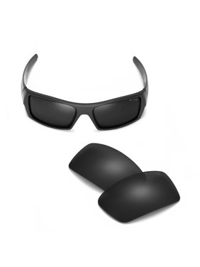 fe55e32f03c Product Image Walleva Black Mr. Shield Polarized Replacement Lenses for  Oakley Gascan Sunglasses