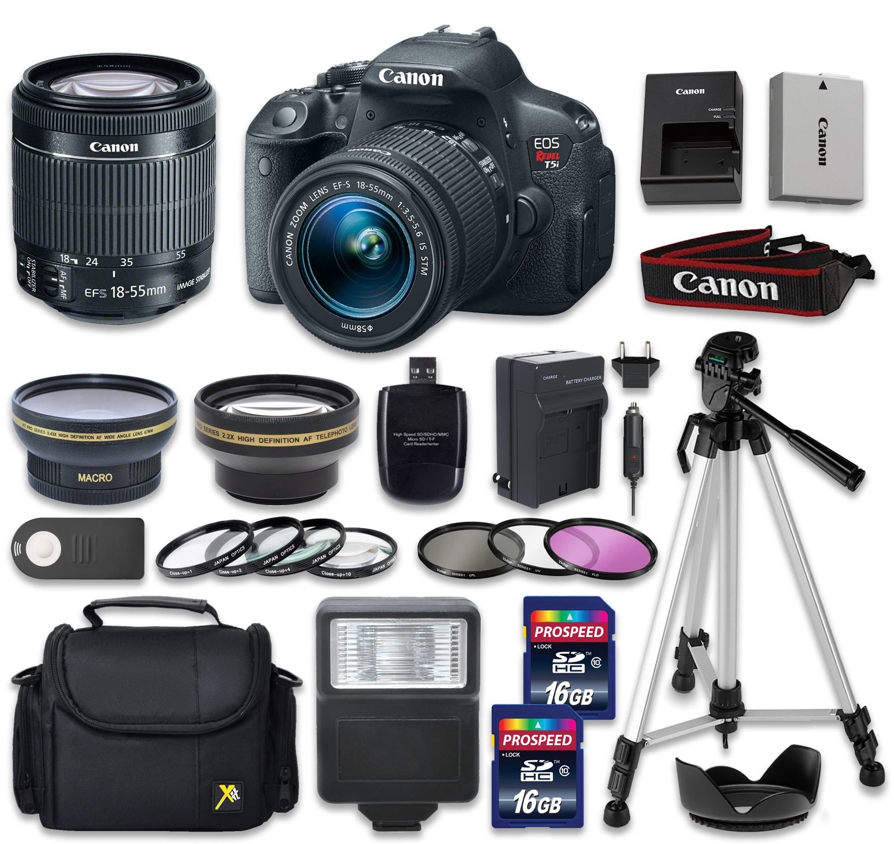 Canon EOS Rebel T5i 18.0 MP CMOS Digital Camera with EF-S 18-55