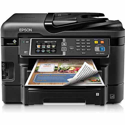 Refurbished Epson C11CD16201 WorkForce WF-3640 All-in-One Printer/Copier/Scanner/Fax Machine