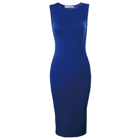 Teal Juniors Dress - TAM WARE Women's Classic Slim Fit Sleeveless Midi Dress