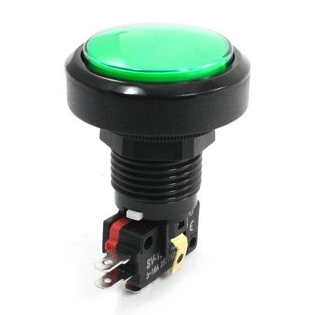 - Green Light SPDT 3Pin Momentary Mushroom Head Push Button Switch 12V