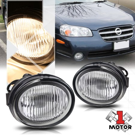 Chrome Housing Clear Lens Replacement Fog Light OE Bumper Lamp for 02-03 -
