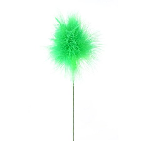 Supply Feather Light 4 Wheel (Midwest Design Imports 49028 Feather Fluffy Floral Stem, 23 in. - Kelly Green - 4 Piece)