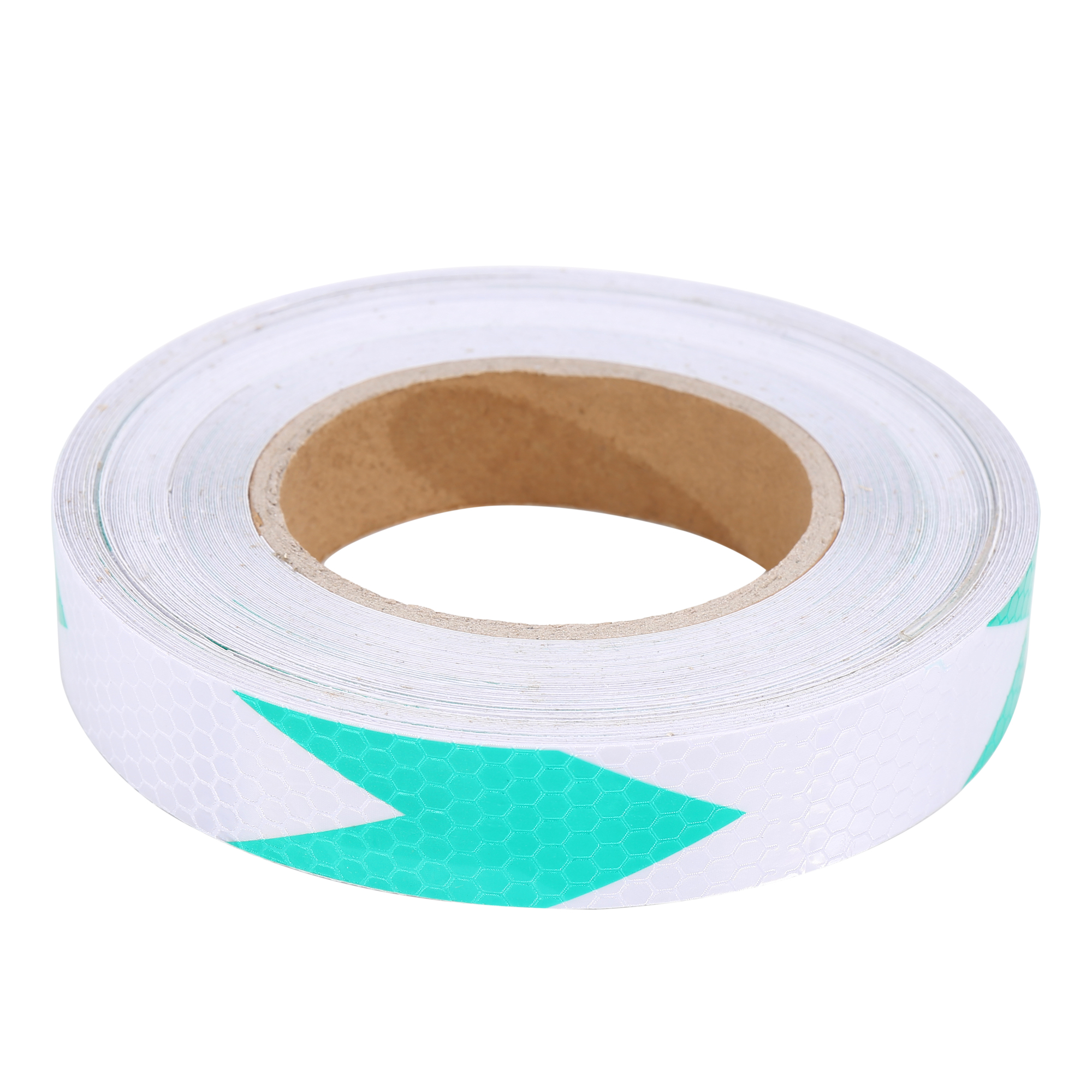 25M Green Sliver Tone Vehicle Arrow Pattern Reflective Sticker Tape Strip - image 2 of 3