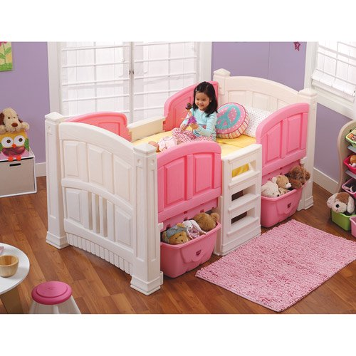 step2 loft twin bed with storage pink walmart com