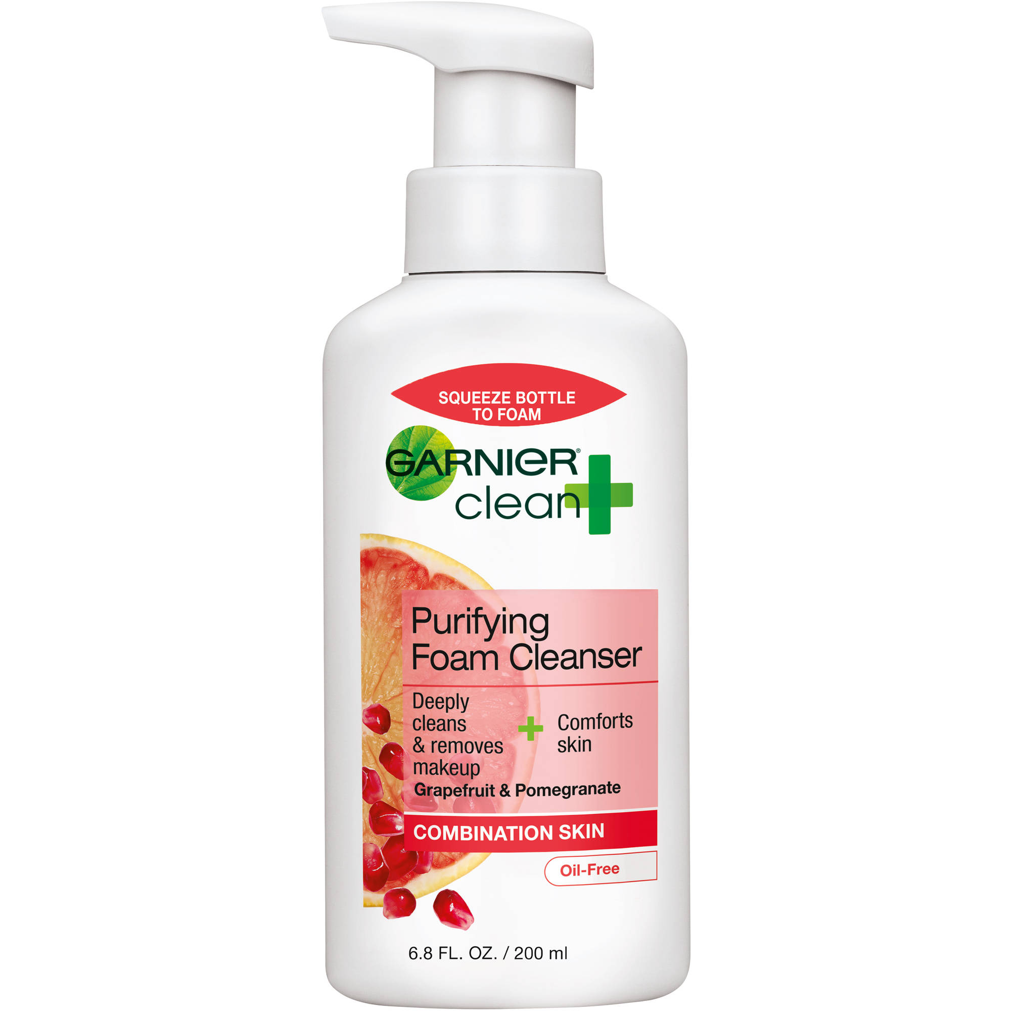 Garnier Clean +  Foam Cleanser, 6.8 oz