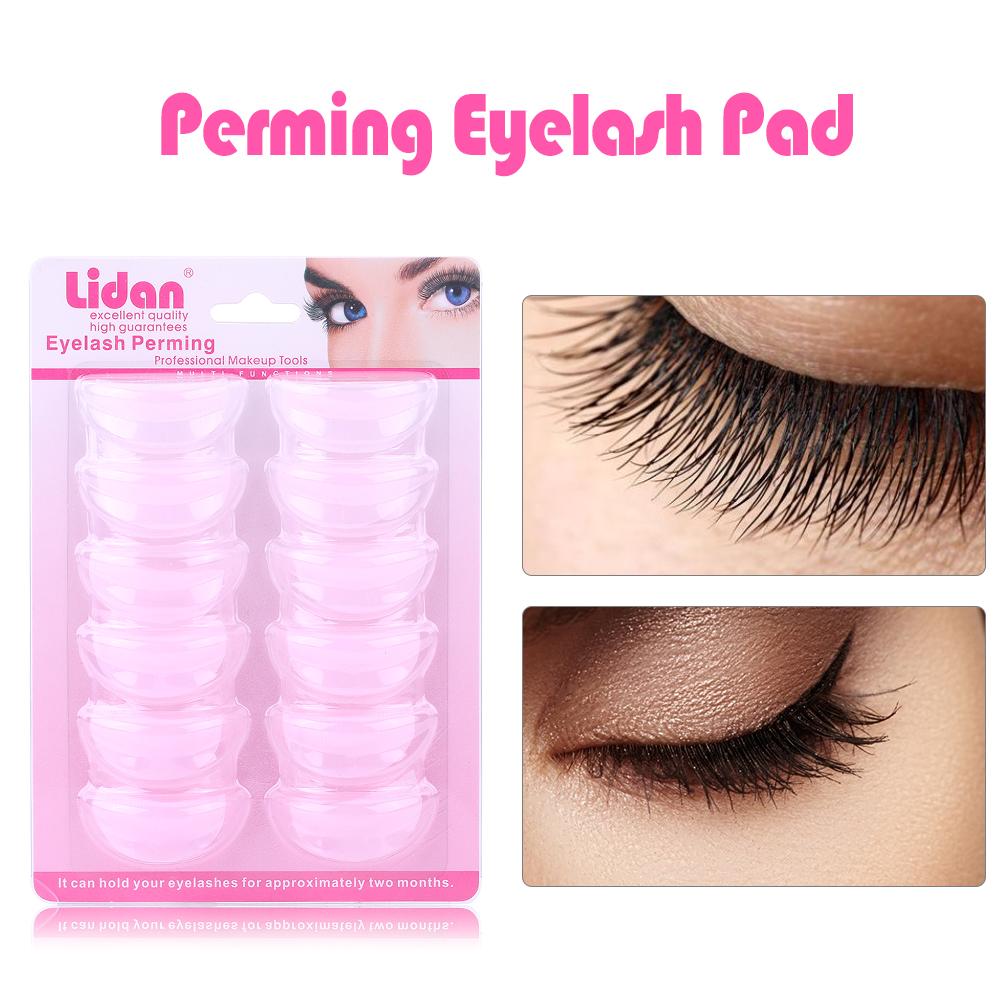 6pairs Silicone Perming Curling Eyelash Pad False Eyelash Root