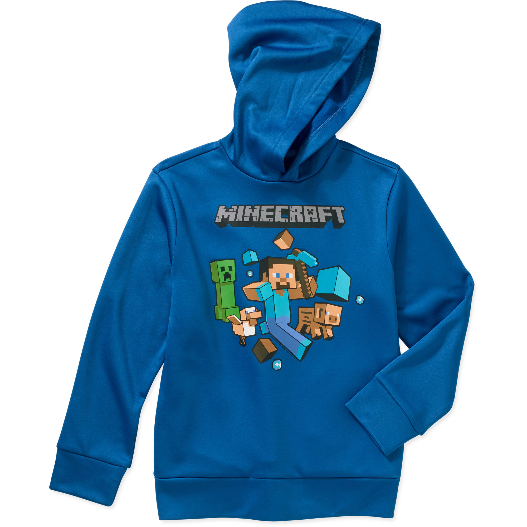 Minecraft Run Away Boys' Poly Fleece Hoodie