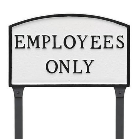 Montague Metal Products Employees Only Arched Lawn Plaque