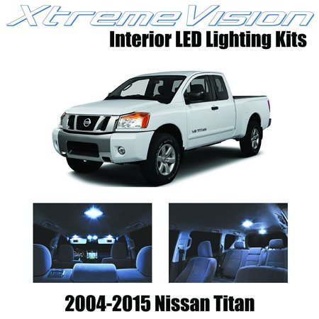 XtremeVision LED for Nissan Titan 2004-2015 (16 Pieces) Cool White Premium Interior LED Kit Package + Installation Tool ()