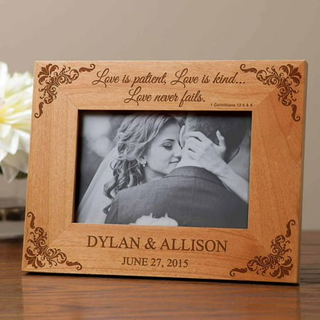 Personalized Love Is Patient - Cheap Wedding Gifts