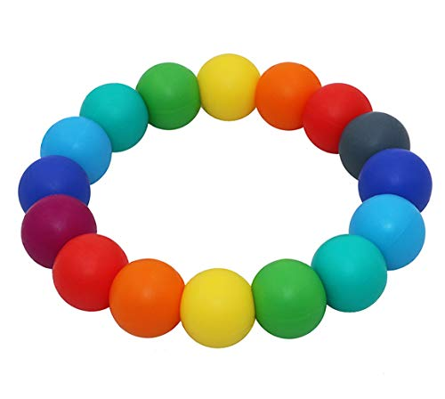 Baby Nursing or Special Needs Chewable Jewelry for Autistic Chewers Nearbyme Chewable Teething Bracelets for Sensory Kids Silicone Teether Ring for Boys Girls ADHD
