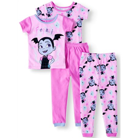 Girls Pajamas Size 7 (Vampirina Cotton tight fit pajamas, 4-piece set (toddler)