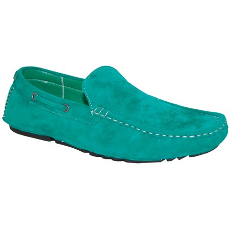 KRAZY SHOE ARTISTS Insane Money Man Green Loafers