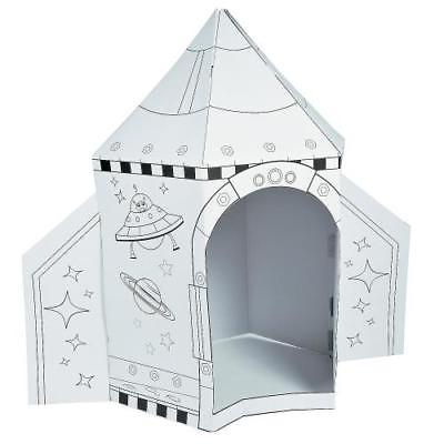 IN-13669856 Color Your Own Rocket Ship Playhouse
