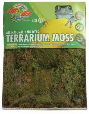 Terrarium Moss 15 to 20 Gallon, Available in 5 sizes including a mini compressed bale size for multiple... by