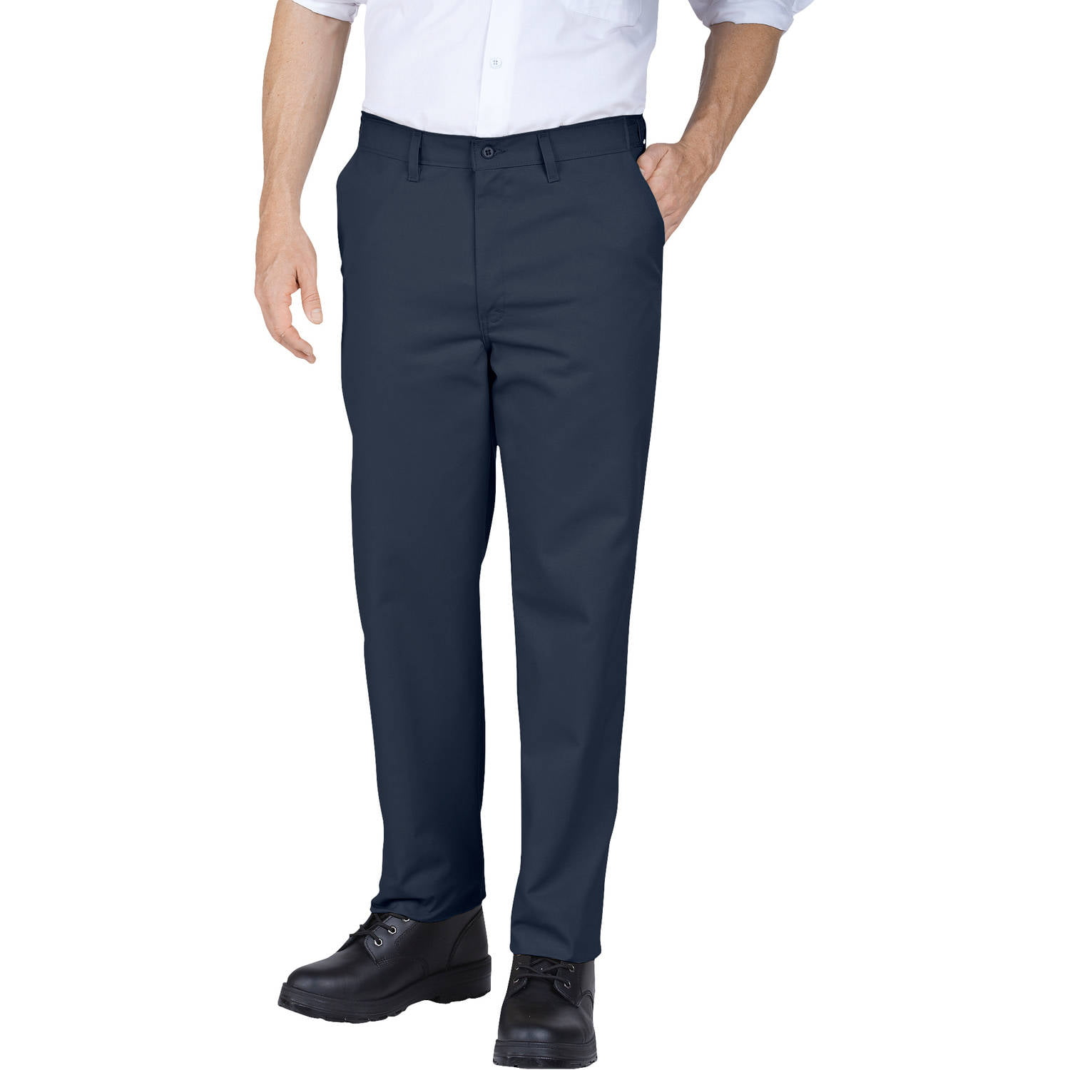 Genuine Dickies Men's Slim Fit Straight Leg Flat Front Pants ...
