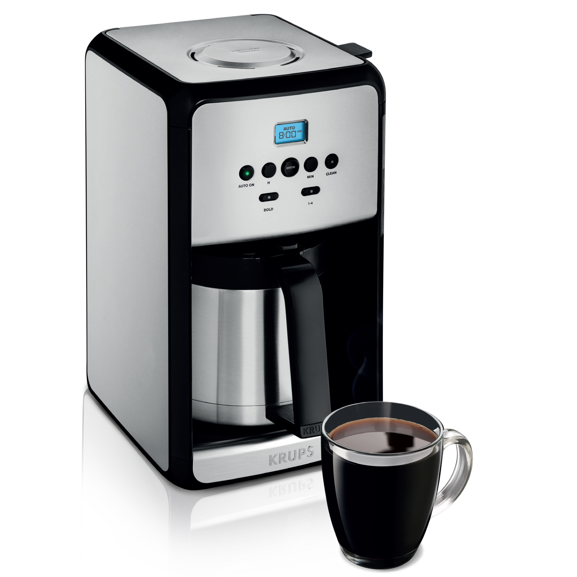 KRUPS 12 Cup Programmable Thermal Filter Coffee Maker Stainless