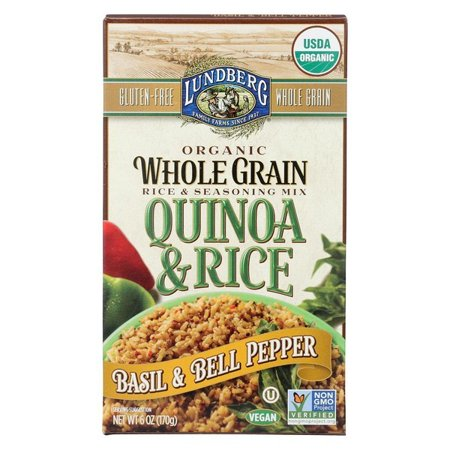 Silver Bells Luanne Rice (Lundberg Family Farms Quinoa And Brown Rice - Basil And Bell Pepper - pack of 6 - 6 Oz.)